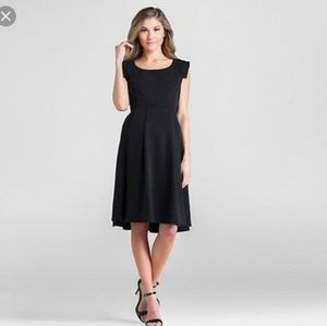 Expected by Lilac black sleeveless, pleated dress